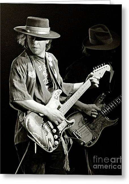 Stevie Ray Vaughan 1984 Greeting Card