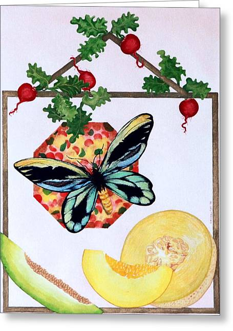 Still Life With Moth #3 Greeting Card by Thomas Gronowski