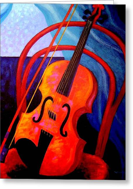 Still Life With Violin Greeting Card by John  Nolan