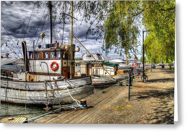 Stockholm Harbor    Sweden Greeting Card by Jon Berghoff