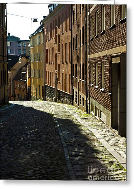 Stockholm Sweden Greeting Card by Micah May