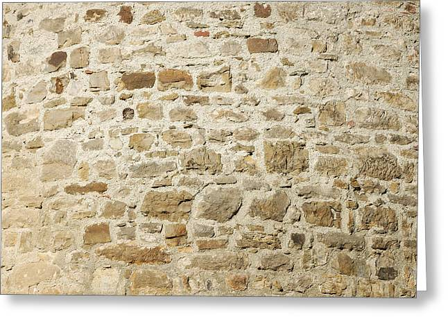 Stone Wall Greeting Card by Matthias Hauser