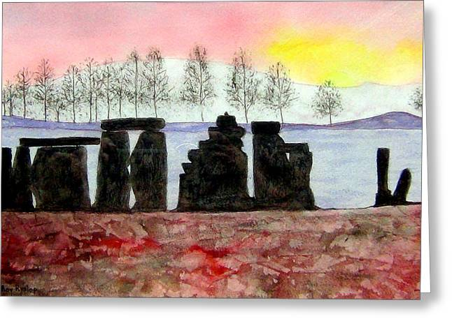 Stonehenge Greeting Card by Roy Hyslop