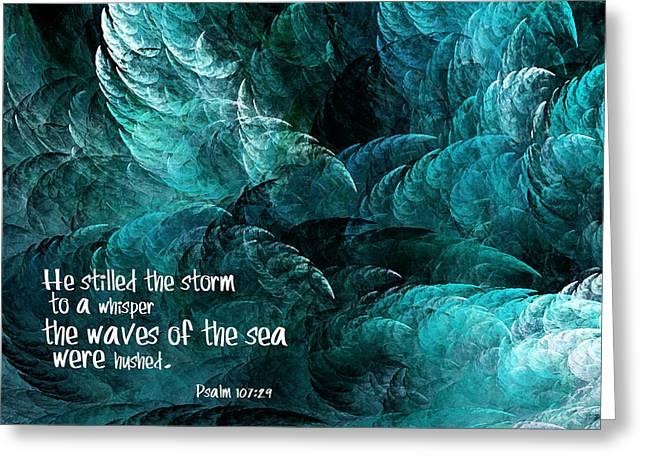 Stormy Sea Greeting Card by Bonnie Bruno