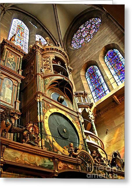 Strasbourg Astronomical Clock Greeting Card by Babak Tafreshi