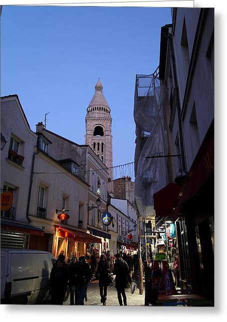 Street Scenes - Paris France - 01131 Greeting Card by DC Photographer