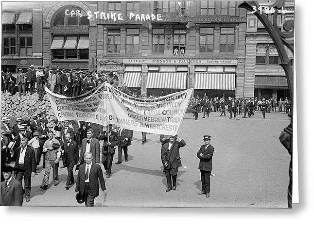 Streetcar Strike, C1915 Greeting Card