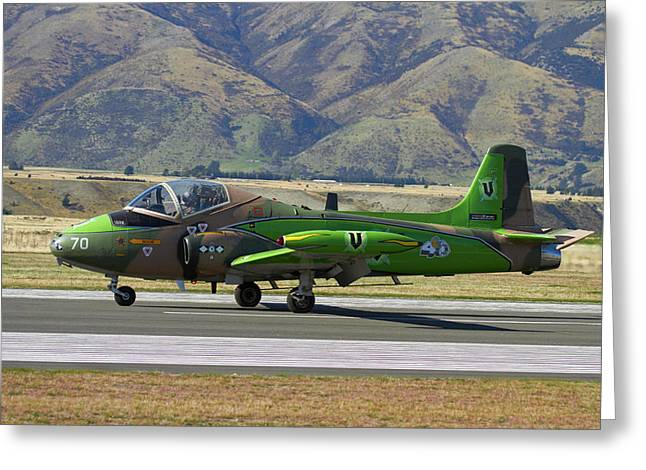 Strikemaster Jet, Warbirds Over Wanaka Greeting Card