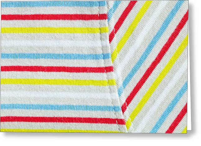 Stripey Material Greeting Card
