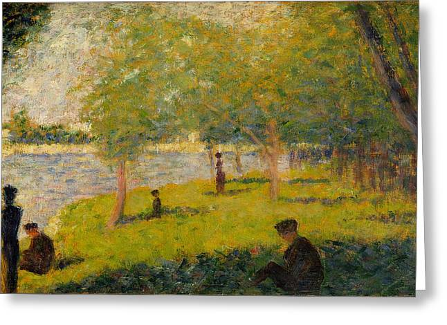 Study For A Sunday On La Grande Jatte Greeting Card