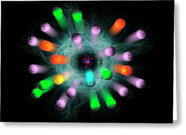 Subatomic Particles  Greeting Card by Carol & Mike Werner