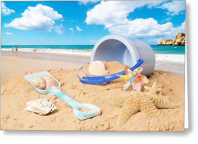 Summer Beach Greeting Card by Amanda Elwell