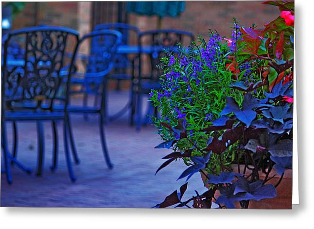 Summer Patio Greeting Card