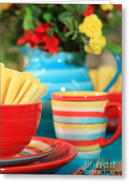 Summer Table Setting Greeting Card