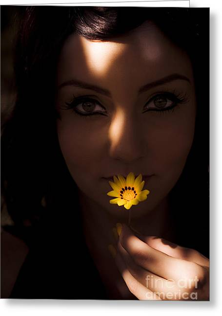 Sun Flower Greeting Card by Jorgo Photography - Wall Art Gallery