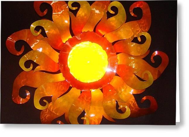 Sun Light Greeting Card by Diane Snider
