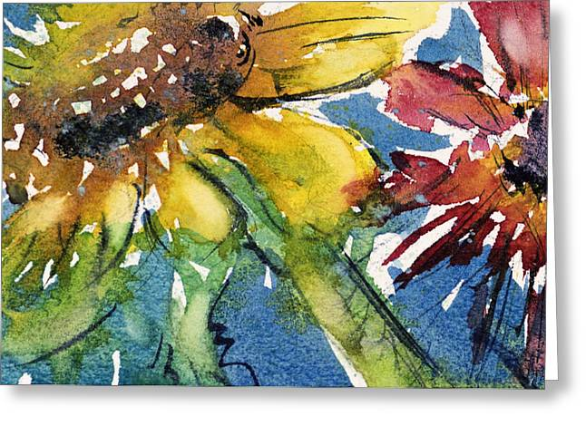 Sunflower Greeting Card by Judith Levins