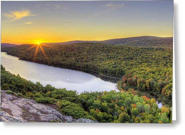 Sunrise Over Lake Of The Clouds Greeting Card by Twenty Two North Photography
