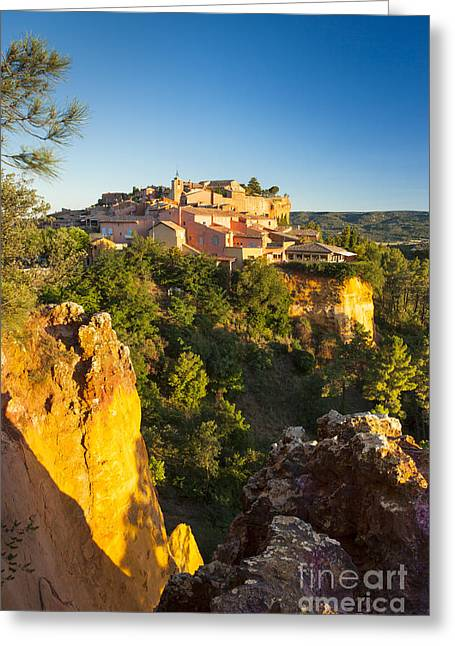 Sunrise Over Roussillon Greeting Card by Brian Jannsen