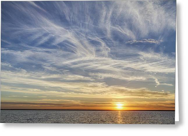 Greeting Card featuring the photograph Sunset At Cheyenne Bottoms by Rob Graham