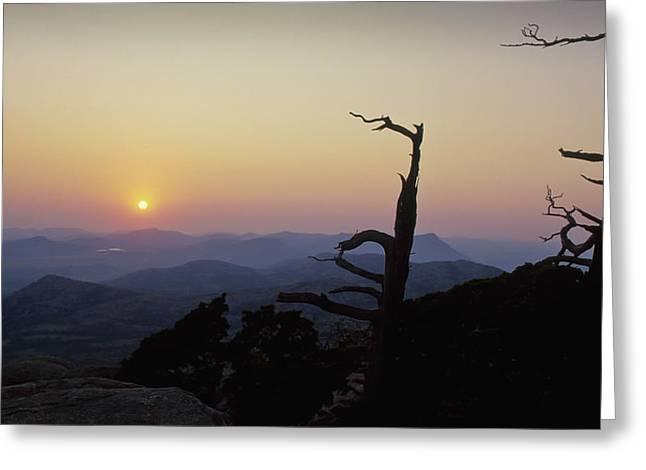 Sunset From Mt Scott Greeting Card