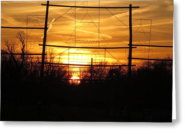 Sunset Images Digital Graphic Enhancements By Navinjoshi Greeting Card