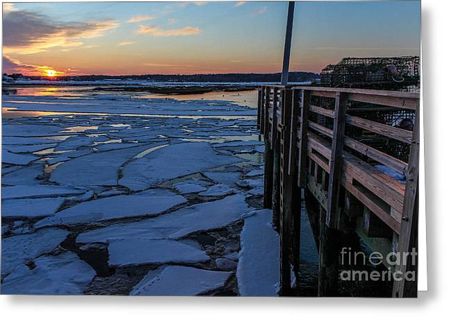 Sunset In Pine Point Greeting Card by Joe Faragalli