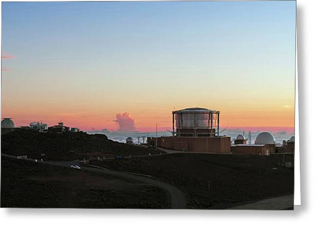 Sunset Over Haleakala Observatories Greeting Card by Babak Tafreshi