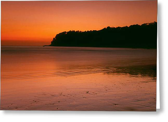 Sunset Over The Sea, Goa, India Greeting Card by Panoramic Images