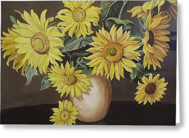 Sunshine And Sunflowers Greeting Card