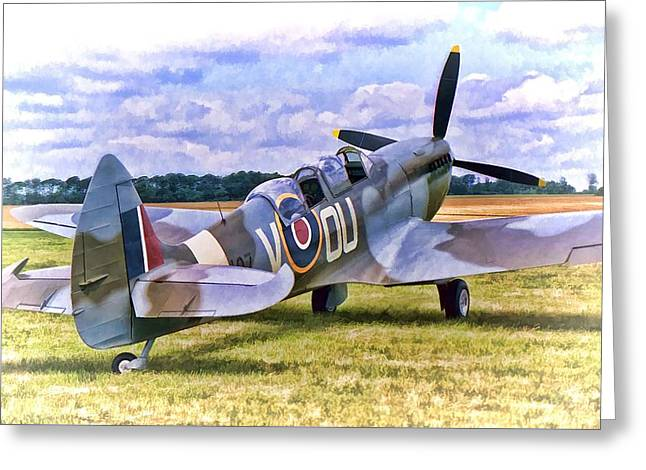 Supermarine Spitfire T9 Greeting Card