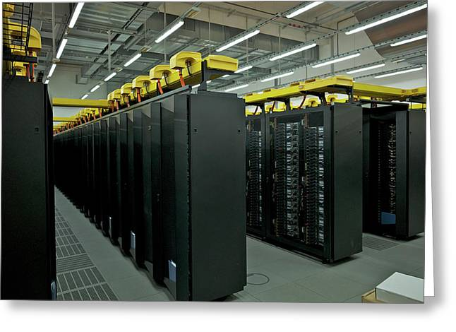 Supermuc Supercomputer Greeting Card by Ibm Research