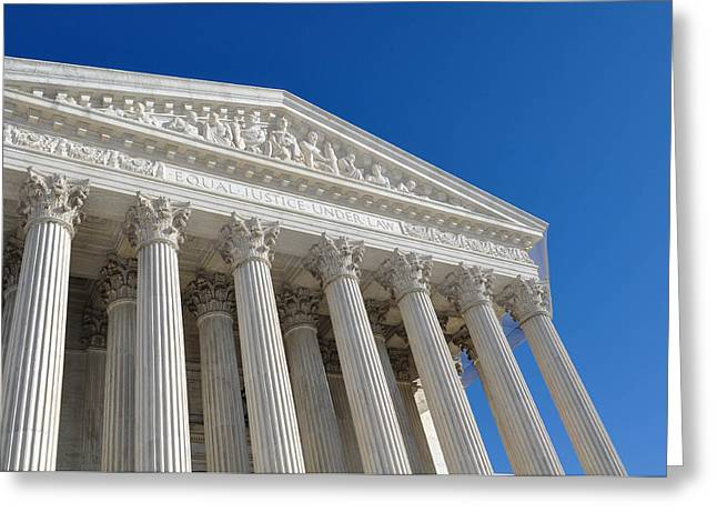 Supreme Court Of The United States Greeting Card by Brandon Bourdages