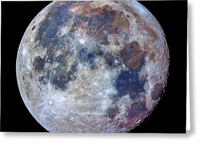 Surface Of The Moon Greeting Card by Babak Tafreshi
