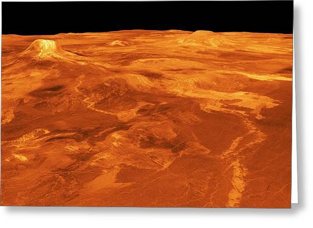 Surface Of Venus Greeting Card by Nasa/jpl