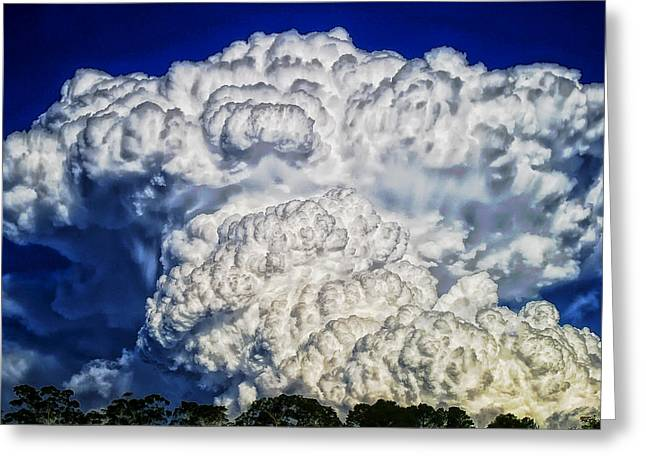 Surreal Cloud Formation Greeting Card by Mountain Dreams