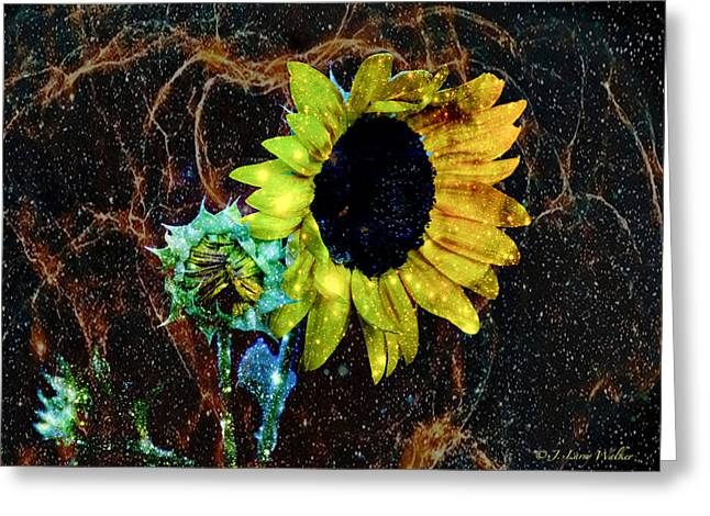 Surrealistic Sunflower Greeting Card