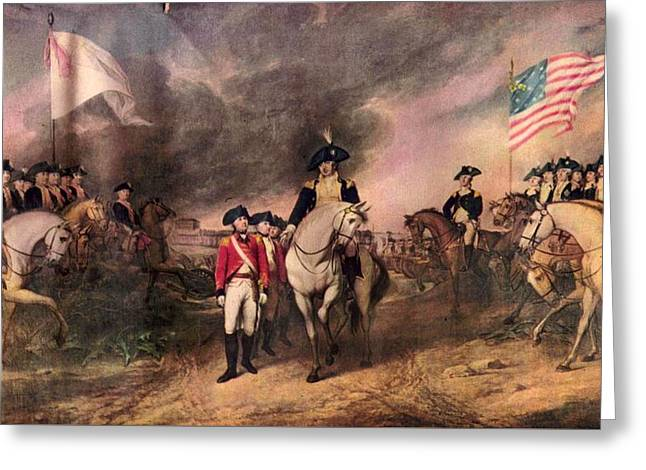 Surrender Of Lord Cornwallis Greeting Card by MotionAge Designs
