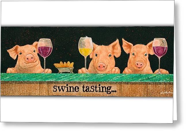 Swine Tasting... Greeting Card