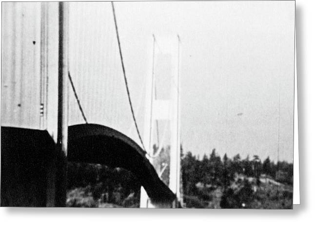 Tacoma Narrows Bridge Collapse Greeting Card