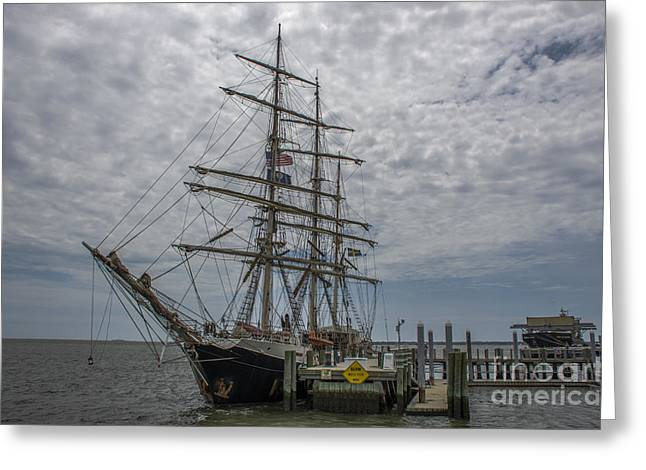 Greeting Card featuring the photograph Tall Ship Gunilla by Dale Powell