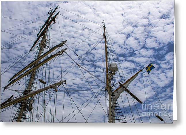 Greeting Card featuring the photograph Tall Ship Mast by Dale Powell