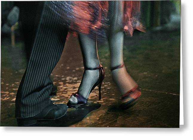 Tango - The Dance Greeting Card by Michel Verhoef
