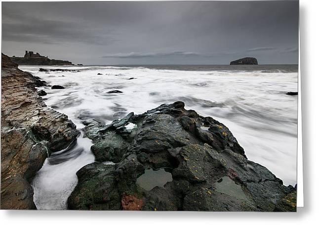 Tantallon Castle Greeting Card by Keith Thorburn LRPS