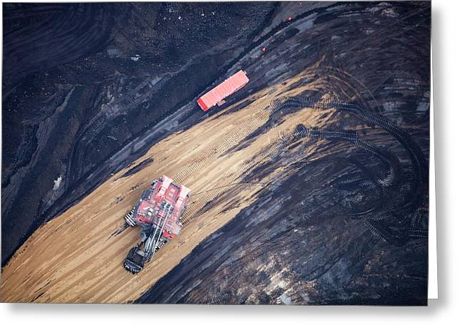 Tar Sands Deposit Mine Greeting Card by Ashley Cooper