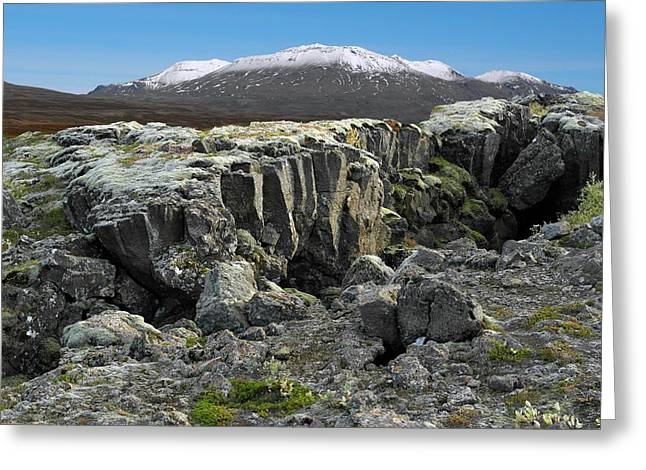 Tectonic Plate Boundary Greeting Card by Tony Craddock