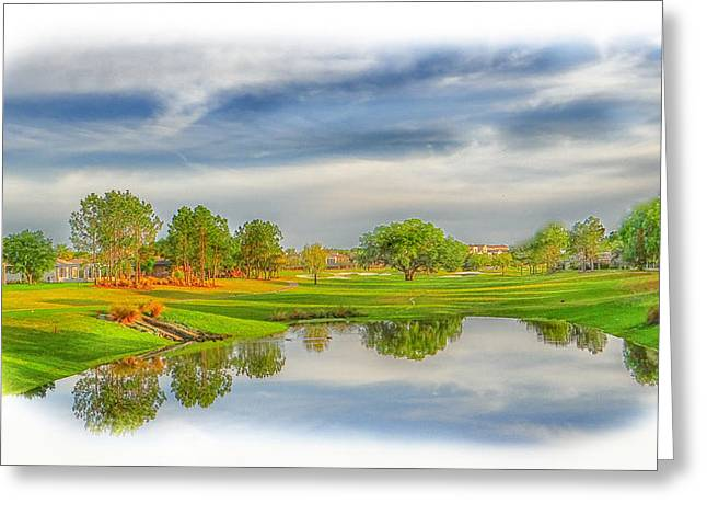 Tee Time Greeting Card by Dennis Dugan