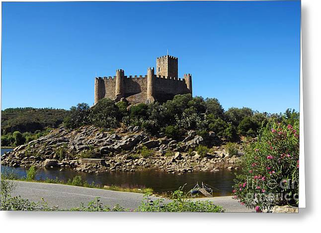 Templar Castle Of Almourol Greeting Card by Jose Elias - Sofia Pereira