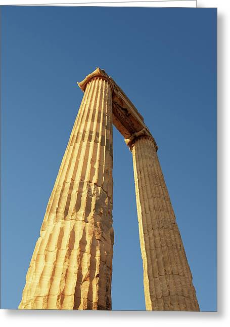 Temple Of Apollo Greeting Card by David Parker