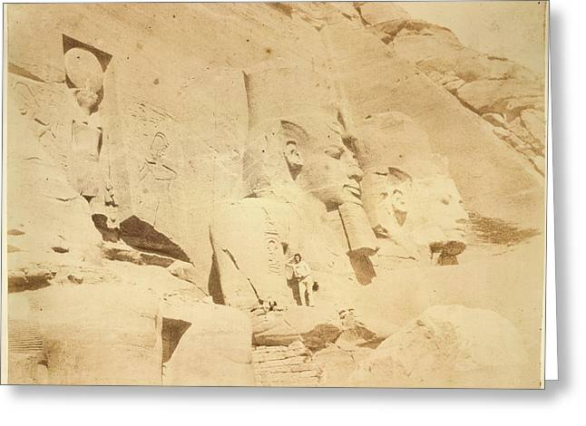 Temple Of Ramses II Greeting Card by British Library